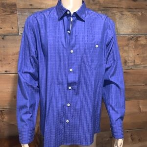Tommy Bahama Mens Blue Dress Shirt SZ.L